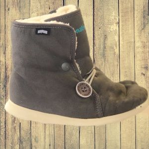 Native Shoes AP Luna Boots Grey Toddler Shearling